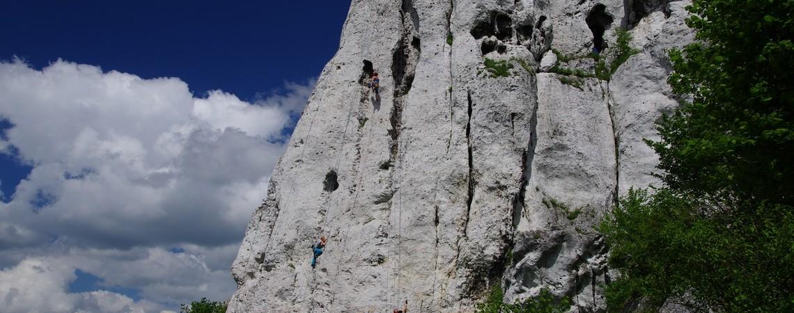 Ze sztucznej ściany w skały